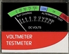 865-932-666 Voltmeter 0-20 Volt Range Horizontal With Board