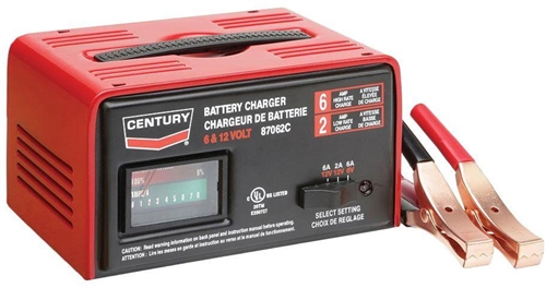 87062c century 6 2 amp 6 12 volt manual automotive battery charger rh centurytool net Black and Decker Smart Battery Charger Century 87151 Battery Charger Manual