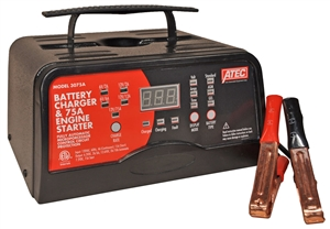 3075A ATEC 6/12 Volt 2/12/75 Amp Portable Automatic Automotive Battery Charger
