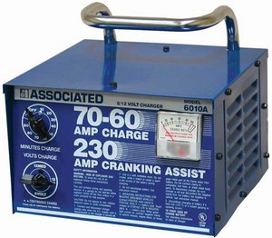 6010A Associated 70/60/230 Amp 6/12 Volt Automotive Battery Charger With Start