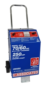 6012 Associated 70/60/30/250 Amp 6/12 Volt Automotive Battery Charger W/ Start