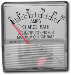 610346 Associated Ammeter Horizontal 0-50 DC Amp Range