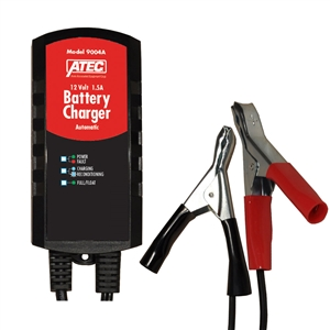 9004A ATEC Automotive Battery Charger/Maintainer 6/12V 1.5 Amp Automatic AGM Or Lead Acid