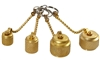 AVCVAC CPS Vacuum Pump Brass Caps With Chains 1/4'' 3/8'' 1/2'' Flare 1/2'' ACME