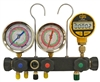 "MV5H3D CPS R134A R22 R404A R410A 3-1/8"" Oil-Filled Gauges Digital Vacuum Gauge & Case"