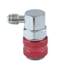 "QCH90 CPS R-134a HI Side 90° Snap Coupler, 1/4"" SAE Fittings"