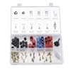 2663 FJC Inc. Automotive Air Conditioning Cap & Valve Core Assortment (90 Piece)
