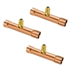 "A31334 JB Industries 1/4"" OD Swaged Copper Braze Tee Access 3 Pack"