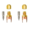 "A32816 JB Industries Copper Saddle 1/4 Male Flare - 1"" Solder 2 Pack"