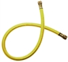 "CL6-48Y JB Industries 3/8"" x 48"" Yellow Environmental Charging Hose without Core Depressor"