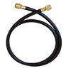 "CL6HD-48 JB Industries 3/8"" X 48"" Heavy Duty Black Charging Hose"