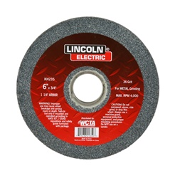 "KH235 Lincoln Grinding Wheel Bench Type 6""X 3/4"" - 36 Grit"