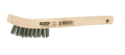 Kh581 Lincoln Wooden Handle Wire Brush 2 X 9 Stainless Steel