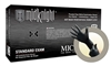 MK296M Microflex Midknight Black Powder-Free Nitrile Examination Gloves - Medium