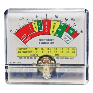 1261 Milton Industries Volt Test Meter 0-16 Volt