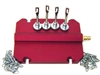 066-6011 MotorVac Optional Durable Plate Adapter With 2 Hold Down Chains (Rect. Cast Iron M/C)
