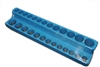 "720 Mechanic's Time Savers 1/4"" Dr. Shallow/Deep 26-Hole Organizer - Neon Blue"
