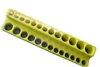 "723 Mechanic's Time Savers 1/4"" Dr. Shallow/Deep 26-Hole Socket Holder - Neon Yellow"