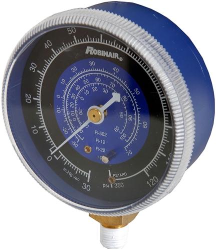 11734 Robinair Low Side Compound Refrigerant Manifold Gauge R12/22/502 -30  To 125 Psi/Bar