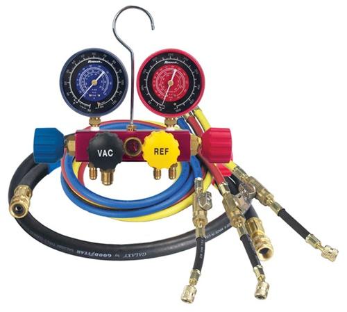 42278 Robinair 1/4 Flare 4 Way Aluminum Refrigerant Manifold Set  R22/404A/410A 60