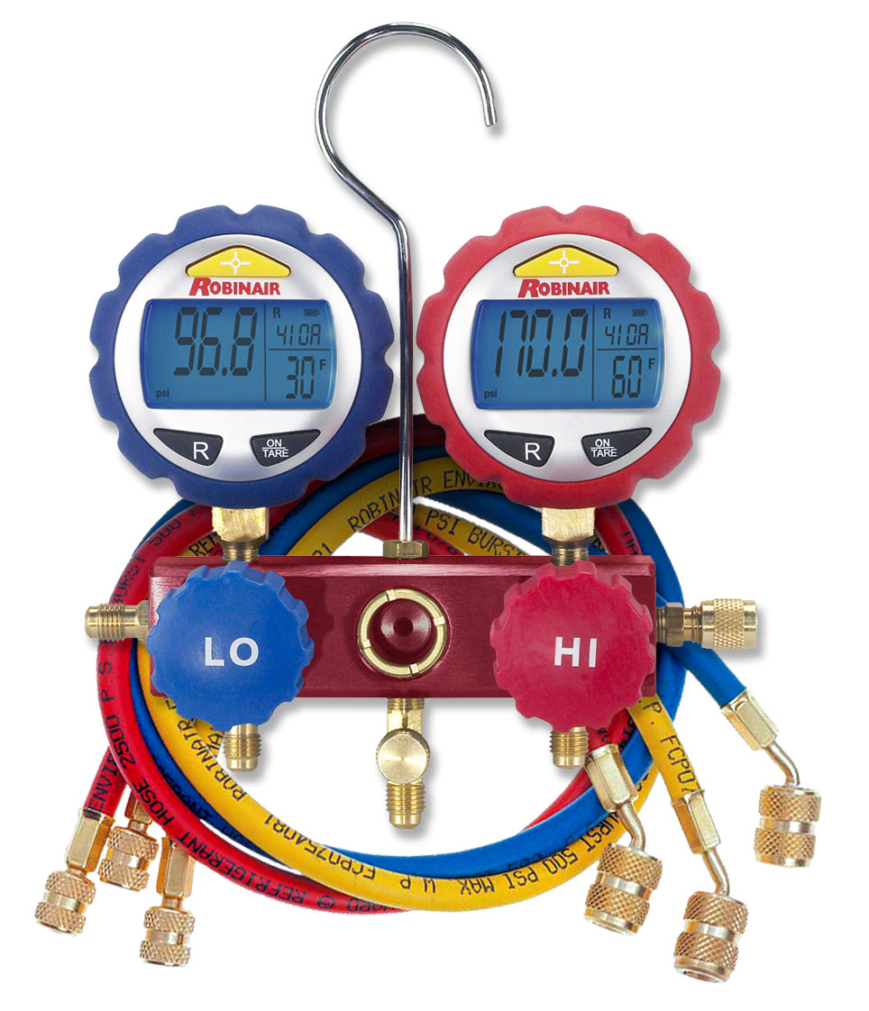 43186 Robinair 2-Way Manifold With Digital Gauges 60