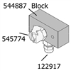 544887 Robinair Dye Bottle Hanger Block Assembly 34988, Requires 545774 Robinair Oil Injector Reservoir Quick Disconnect Fitting, 545762 Aluminum block for Upper Dye Bottle, 122917 Tube Fitting 1/8 Npt X 1/4 Compression.