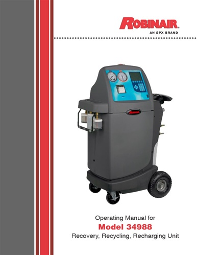 Robinair 34988 recovery/recycle/recharge unit | item bi9843.