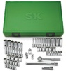"91860 SK Hand Tool 60 Pc. 1/4"" Drive Fractional And Metric Standard And Deep Socket Superset"