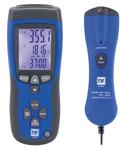 3320 TIF Dual Thermocouple Thermometer With IR (T1 T2 T3) -328 to 2501°F