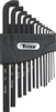 12737 Titan 13 Piece SAE Low Profile Hex Key Set