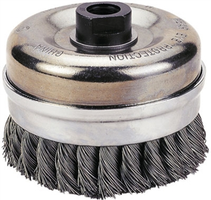 "1423-2116 Firepower Cup Brush 6"" Knotted Wire"