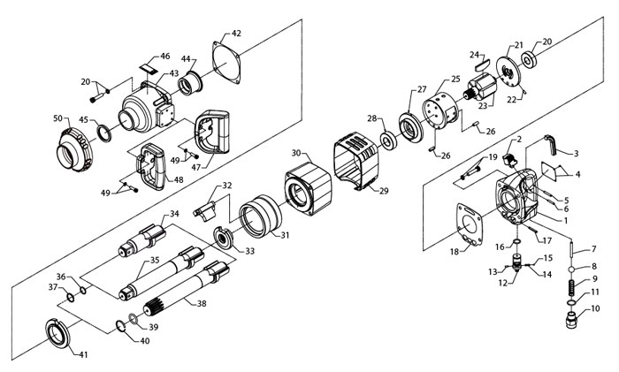 ingersoll rand 285b 1 drive air impact wrench repair parts rh centurytool net Ingersoll Rand 2475 Parts Manual Ingersoll Rand 2475 Parts Manual