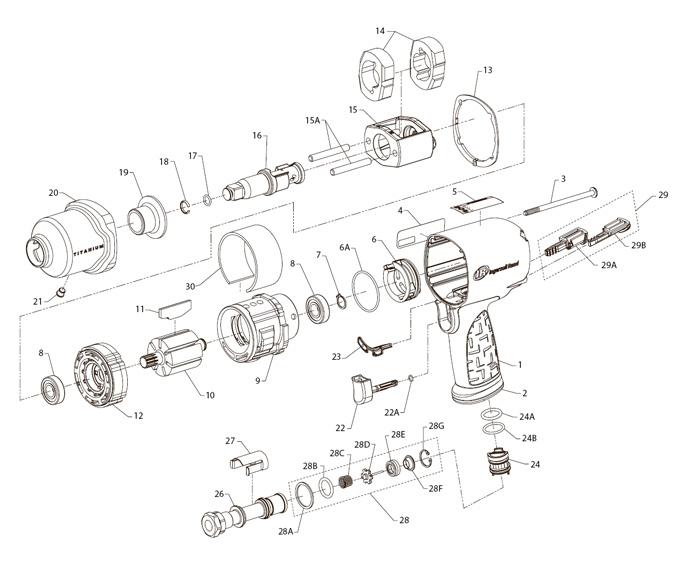 ingersoll 2 u0026quot  drive air impact wrench repair
