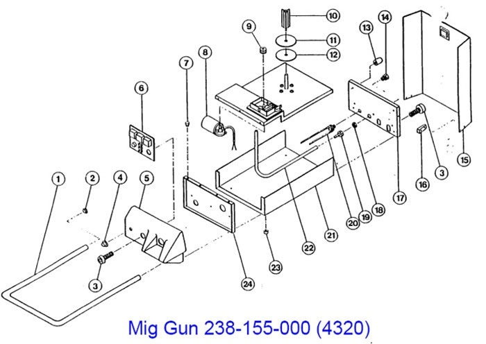 117-008 Portable MIG Century Battery MIG welder (24 v. dc)