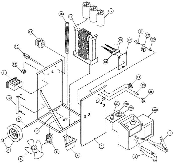 118-013 5Z135 Dayton 15 amp plasma cutter (110 volt)