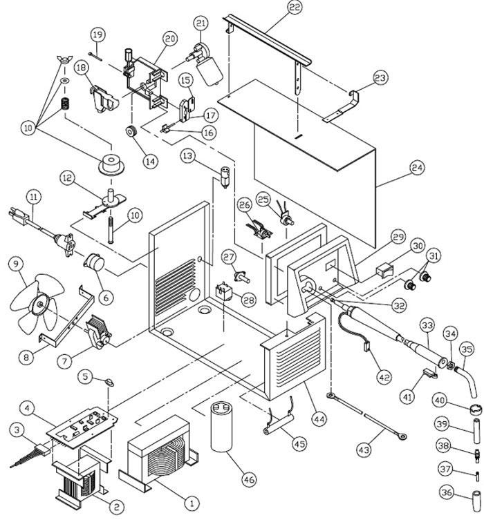117-052 83105 Century 105 amp MIG welder (phase-control)