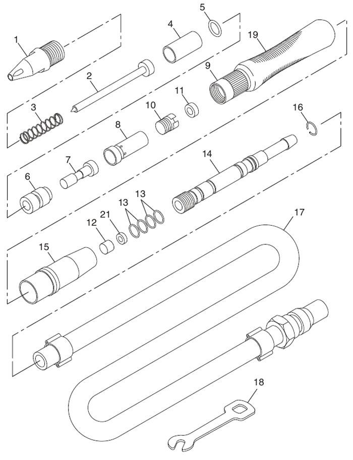 Chicago Pneumatic CP710 Engraving Pen Repair Parts