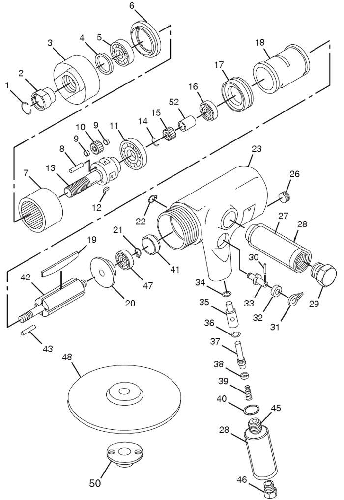 chicago pneumatic cp865 sander polisher repair parts rh centurytool net 7-Wire Trailer Diagram 7-Wire Trailer Diagram