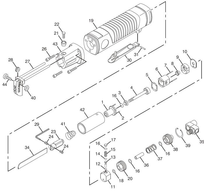 Chicago Pneumatic CP7901 Reciprocating Saw Repair PartsCentury Tool & Equipment