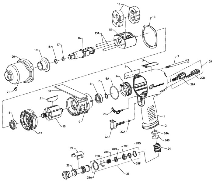 Ingersoll Rand 2141 Parts Diagram