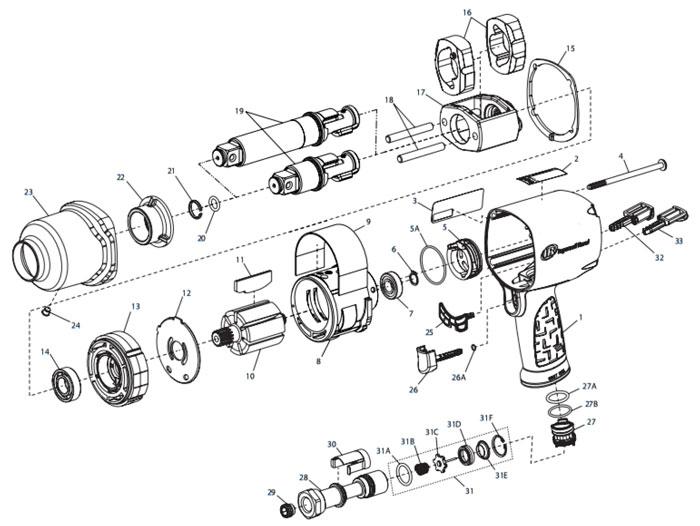 Ingersoll-Rand 2155QiMAX 3/4