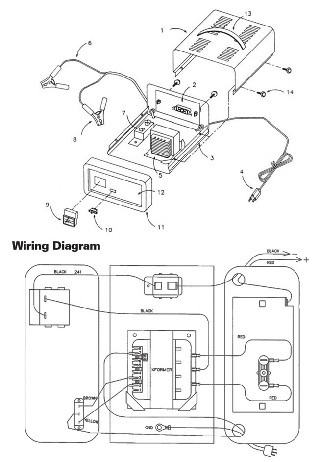 71221 Sears 102 Manual Battery Chargerrhcenturytool: 10 Battery Wiring Diagram Schematic At Oscargp.net