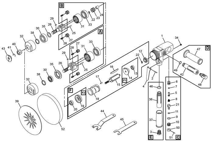 chicago pneumatic cp7265 sander polisher repair parts rh centurytool net 7 Pin RV Wiring Diagram 7 Pin RV Wiring Diagram