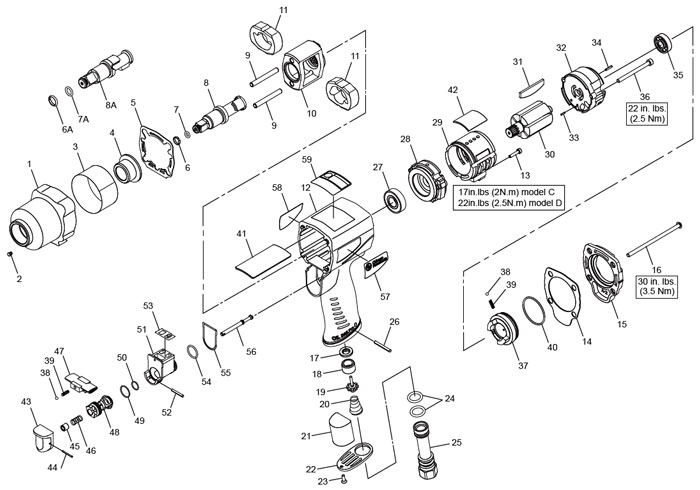8 Impact Wrench Repair Parts