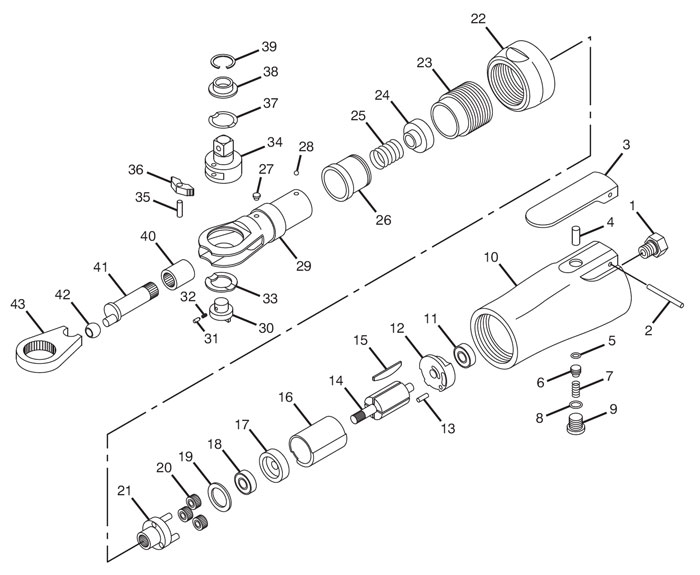 ratchet tool diagram wiring diagram for power tool switch chicago pneumatic cp7824 3/8