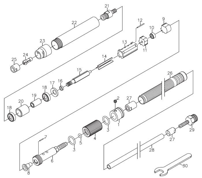 cp9104q pencil grinder repair parts