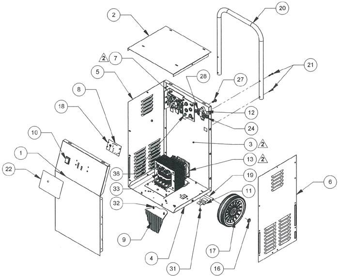 SE-2352-CA Schumacher Battery Charger Parts List