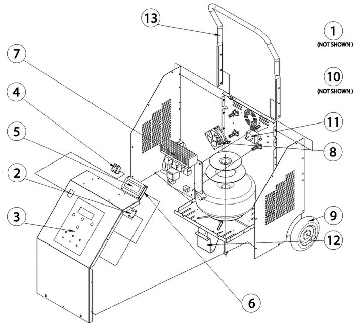 MT6380 Mac Tools Battery Charger Parts