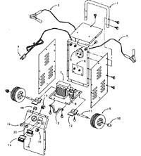sears battery charger parts listing by model rh centurytool net 12V Battery Charger Circuit Diagram Battery Charger Schematic Diagram