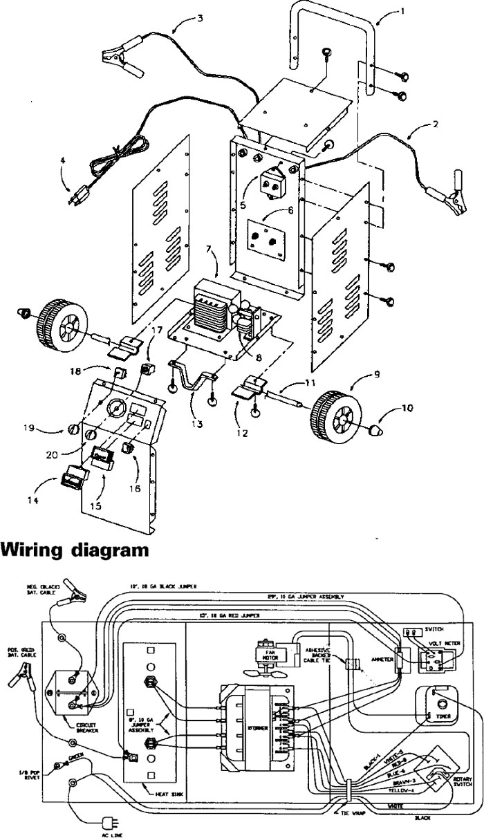 Century Ac Motor Wiring Diagram 115 230 Volts 45 Pump 746021406052572 71450 Sears 50 15 2 225 125 Amp Manual Battery Charger